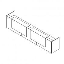 Z2 balie rechthoek met 2 opzetelementen compleet
